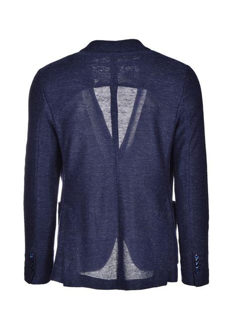 Men's blazer in linen and cotton - dark blue CIRCOLO 1901 | Blazers | CN26883320