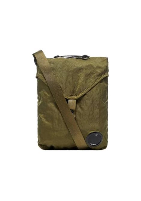 Garment Dyed Nylon Sateen Shoulder Bag - olive C.P. COMPANY | Bags | 08CMAC308A-005269G660