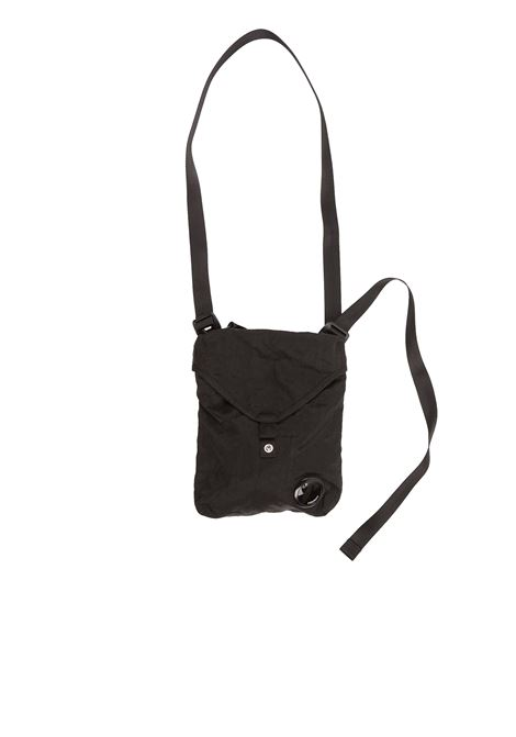 Garment Dyed Nylon Sateen Shoulder Bag - black C.P. COMPANY | Cross body bags | 08CMAC308A005269G999