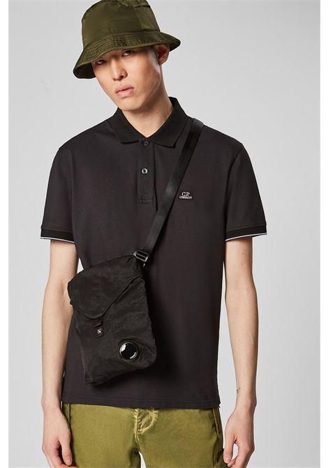 Garment Dyed Nylon Sateen Shoulder Bag - black C.P. COMPANY | Crossbody bags | 08CMAC308A005269G999