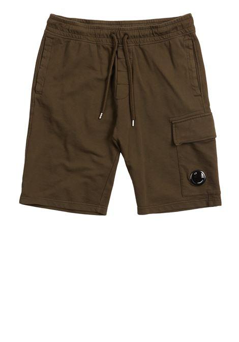 Garment Dyed Light Fleece Lens Shorts C.P. COMPANY |  | 08CMSB180A-002246G677