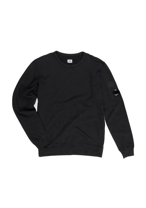 Garment Dyed Light Fleece Lens Crew Sweater C.P. COMPANY | Sweaters | 08CMSS053A-002246G999