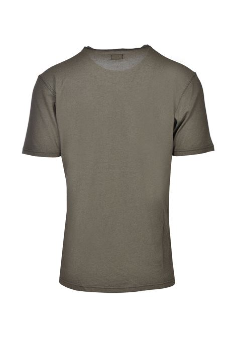 Half-sleeved T-shirt in cotton pique - olive green C.P. COMPANY |  | 08CMTS085A000973G677