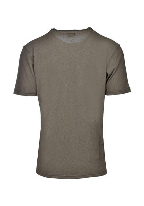 T-shirt mezza manica in piquet di cotone - verde oliva C.P. COMPANY | T-shirt | 08CMTS085A000973G677