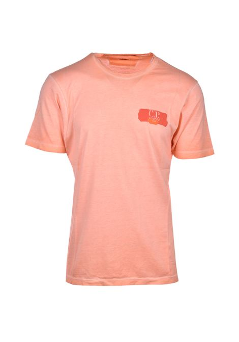 Re-color Mako cotton jersey T-shirt - orange C.P. COMPANY | T-shirts | 08CMTS304A-000444S499