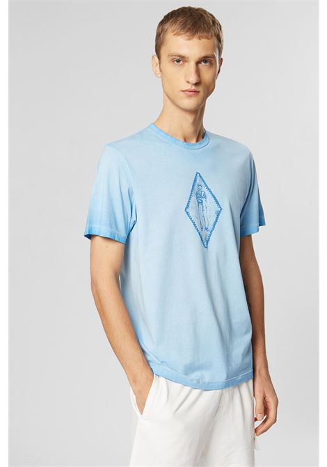 Re-Colour Makò Jersey Faded Diamond T-Shirt C.P. COMPANY | T-shirt | 08CMTS305A000444S818