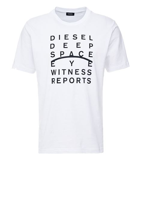 Cotton t-shirt with printed slogan DIESEL | T-shirts | 00S4EL 0091A100