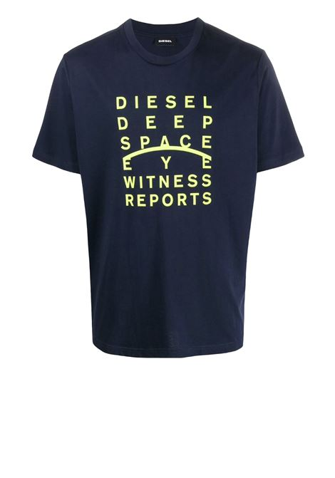 Cotton t-shirt with printed slogan DIESEL | T-shirts | 00S4EL 0091A81E