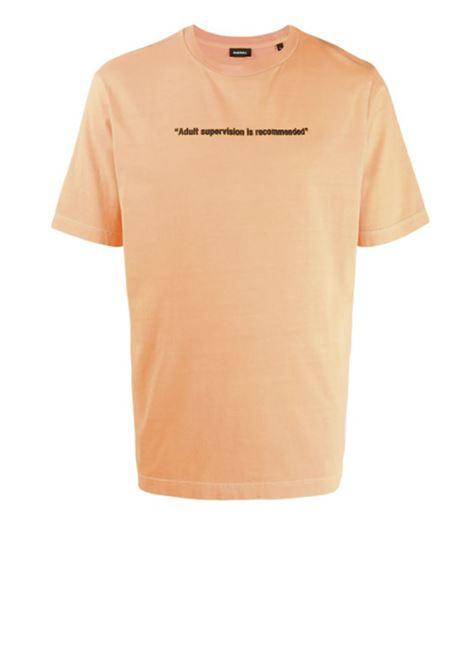 Neon t-shirt with Warning print DIESEL | T-shirts | 00SEG4 0CAYW3AY