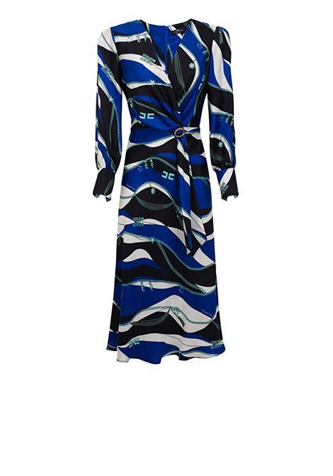 Scarf print silk dress ELISABETTA FRANCHI | Dresses | AB03302E2605