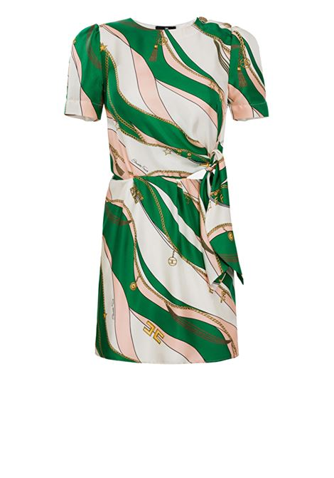 Short twill dress with sash belt ELISABETTA FRANCHI | Dresses | AB03402E2X10
