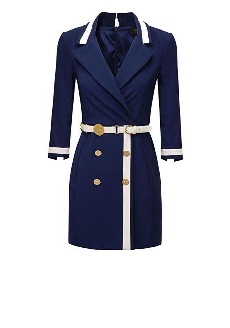 Bicolored dress with belt ELISABETTA FRANCHI | Dresses | AB16701E2Y79
