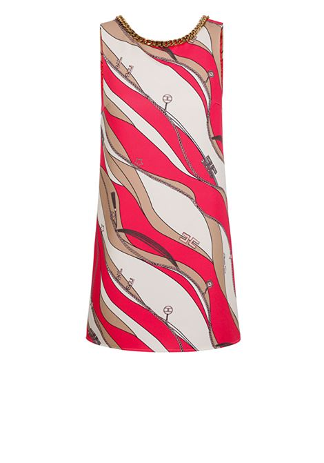 Boxy dress with foulard print ELISABETTA FRANCHI | Dresses | AB20102E2Y73