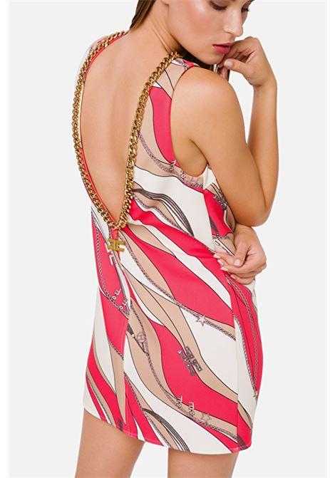 Boxy dress with foulard print ELISABETTA FRANCHI | Dresses | AB20102E2Y73