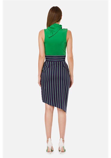 Sleeveless bodysuit with high collar ELISABETTA FRANCHI | Body | BO20301E2124