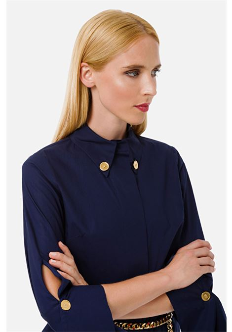 Blouse with buttons on the collar ELISABETTA FRANCHI | Shirts | CA24601E2Y02