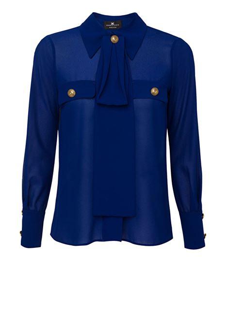 Camicia con taschini e foulard ELISABETTA FRANCHI | Camicie | CA27101E2Y01