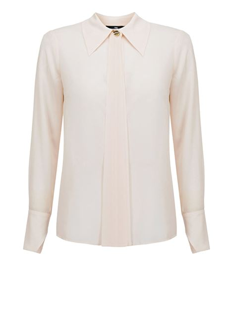 Blouse in Georgette fabric with collar ELISABETTA FRANCHI | Shirts | CA27302E2193