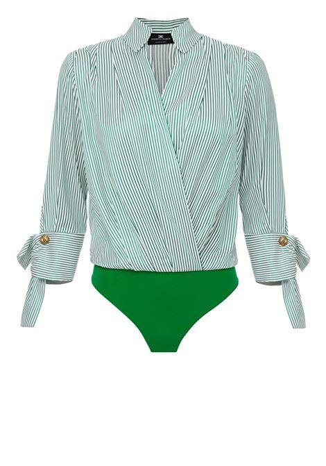 Camicia a body a righe ELISABETTA FRANCHI | Camicie | CB10001E2X14