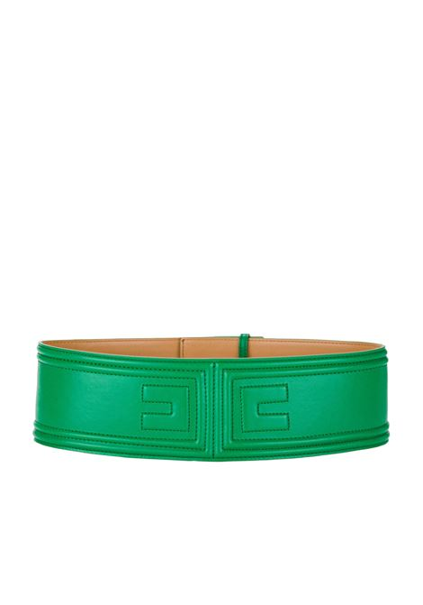 Faux leather belt with embossed logo ELISABETTA FRANCHI | Belt | CT24S02E2124