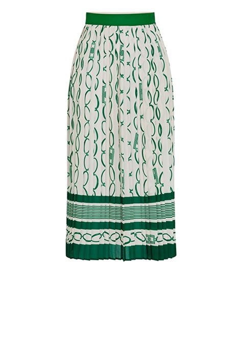 Pleated skirt with chain print ELISABETTA FRANCHI | Skirts | GO35801E2Y64