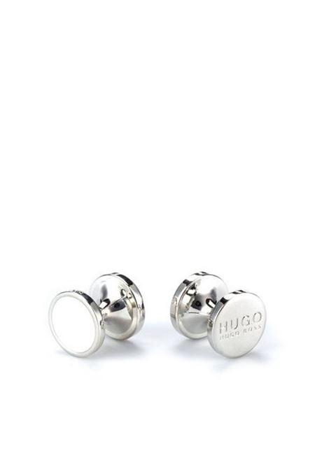 e-tokeep Round cufflinks with enamel detail - white HUGO | Cuff Links | 50316087199