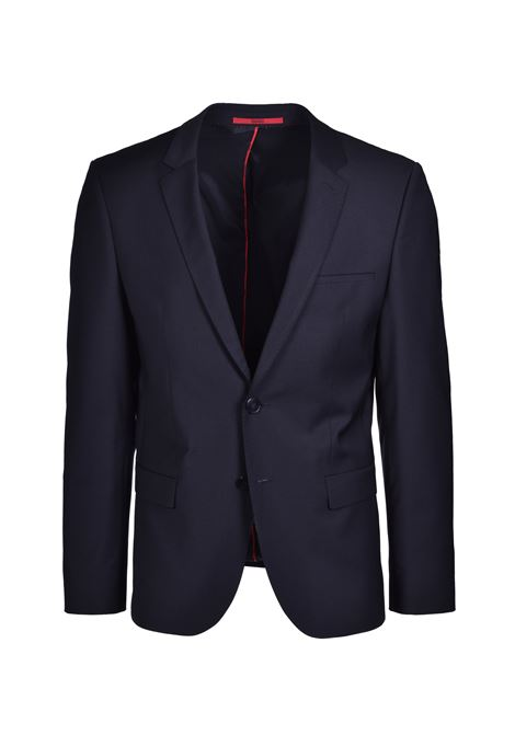 Arti Extra-slim-fit jacket with two-way stretch - Black HUGO | Blazers | 50414119001