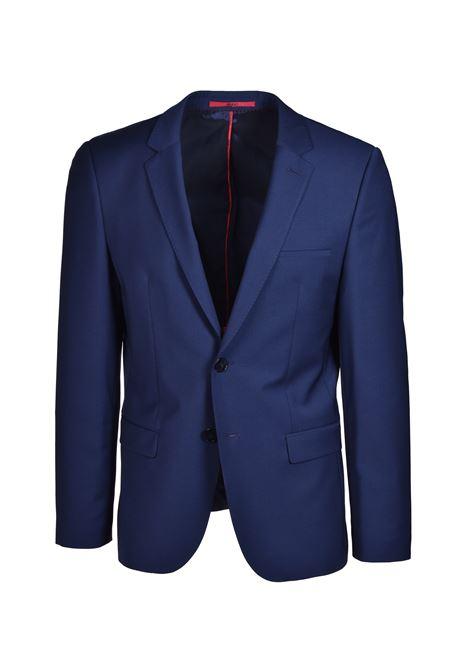 Arti Extra-slim-fit jacket with two-way stretch - Dark blue HUGO | Blazers | 50414119405
