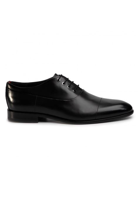 Smooth leather derby shoes - black HUGO | Shoes | 50428693001