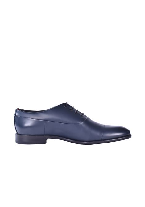 Smooth leather derby shoes - dark blue HUGO | Shoes | 50428693401