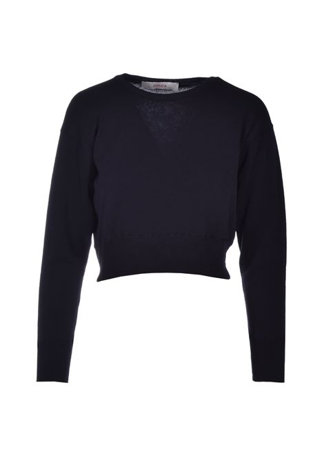Short round neck sweater - black JUCCA | Sweaters | J3111007003