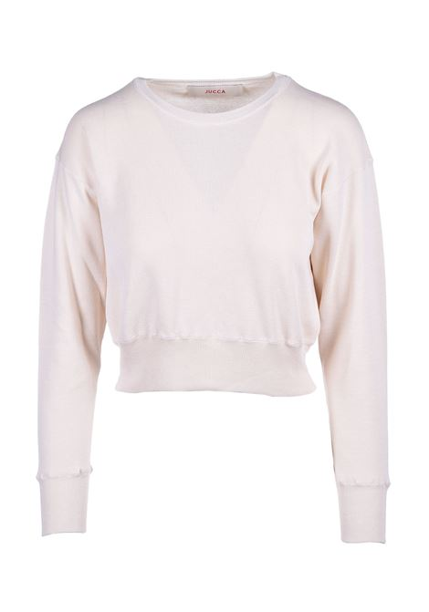 Short round neck sweater - CREAM JUCCA | Sweaters | J3111007045
