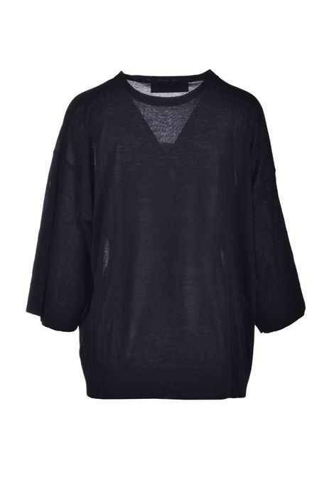Solid color sweater - black JUCCA | Knitwear | J3111065/U003
