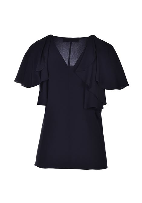 Ruffle sleeve shirt - black JUCCA | Blouse | J3112021003