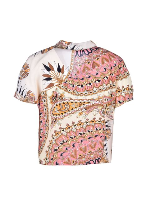 Camicia corta in seta - fantasia JUCCA | Camicie | J31120511306