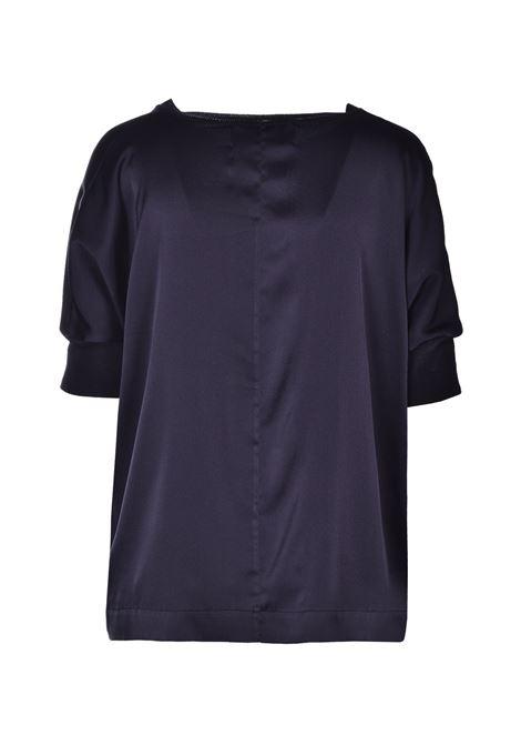 Wide blouse in shiny satin - black JUCCA | Blouse | J3112118/L003