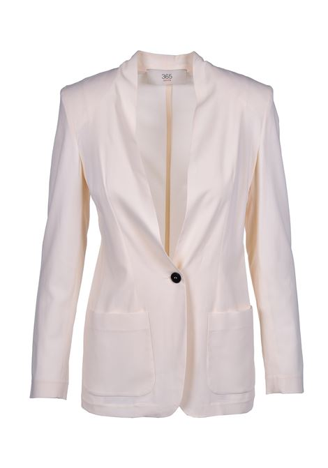Single-breasted jacket with button - cream JUCCA | Blazers | J3113100045