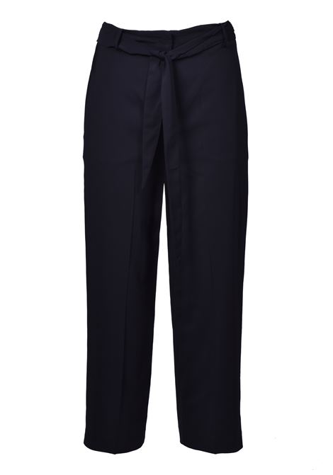 High waist trousers with belt - black JUCCA | Trousers | J3114008003