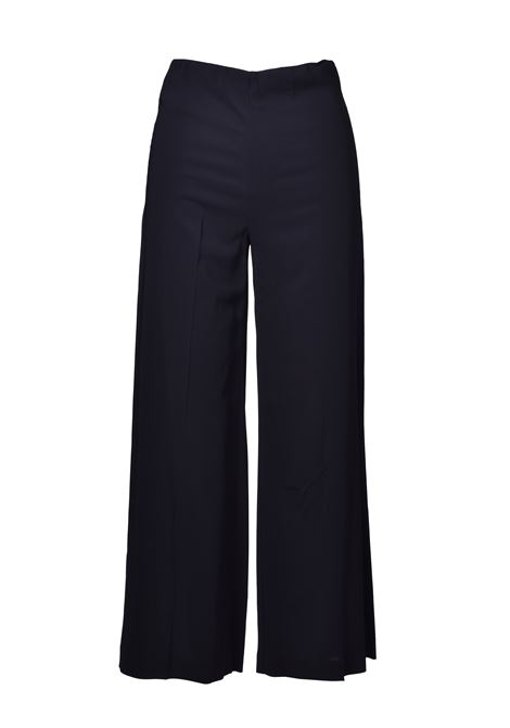 Wide trousers with high waist - black JUCCA | Trousers | J3114104003