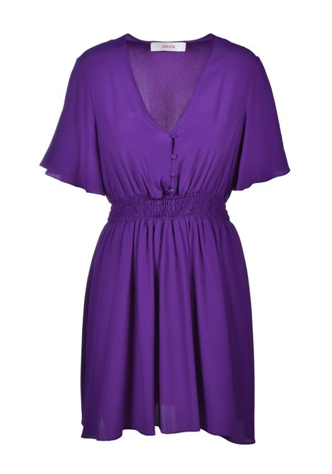 Mini dress with elastic - violet JUCCA | Dresses | J3117019326