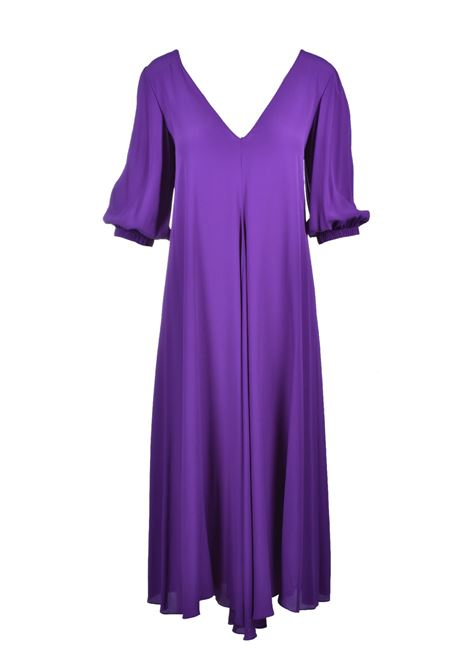 V Neck long dress - violet JUCCA | Dresses | J3117020326