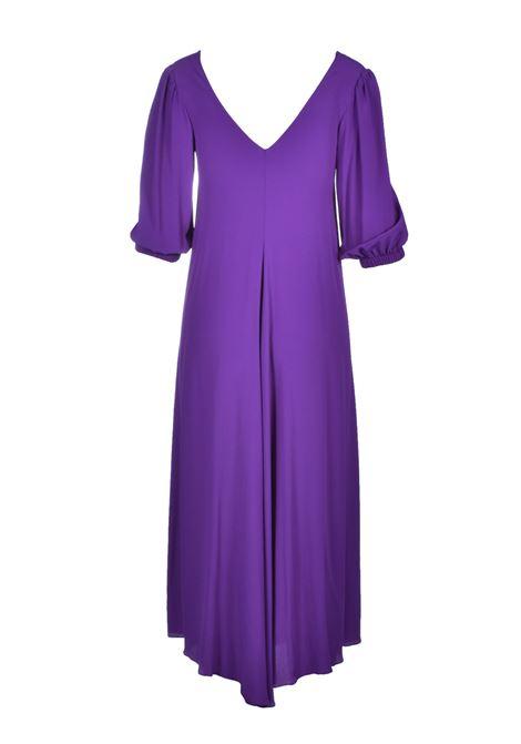 V Neck long dress - violet JUCCA |  | J3117020326