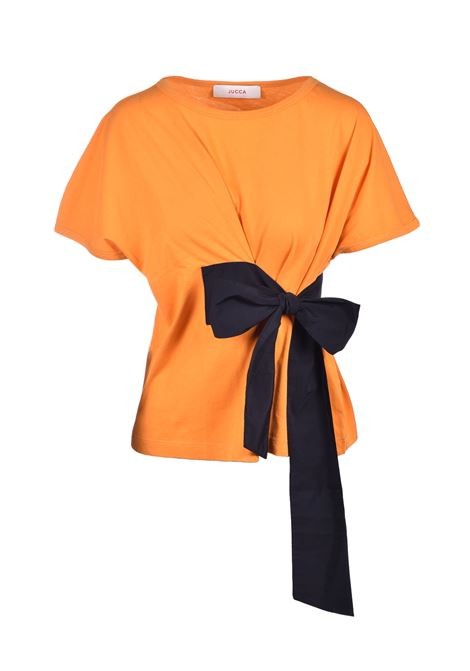 T-shirt with black bow - fanta JUCCA | T-shirts | J31180101637