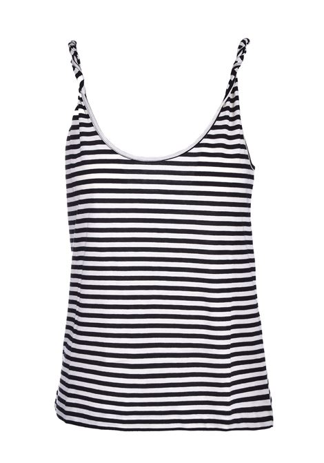 striped jersey top - black JUCCA | Tops | J3118017003