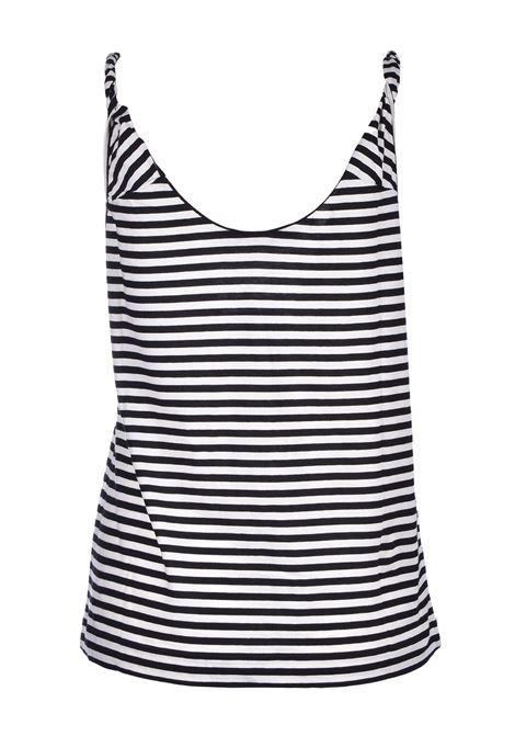 striped jersey top - black JUCCA      J3118017003