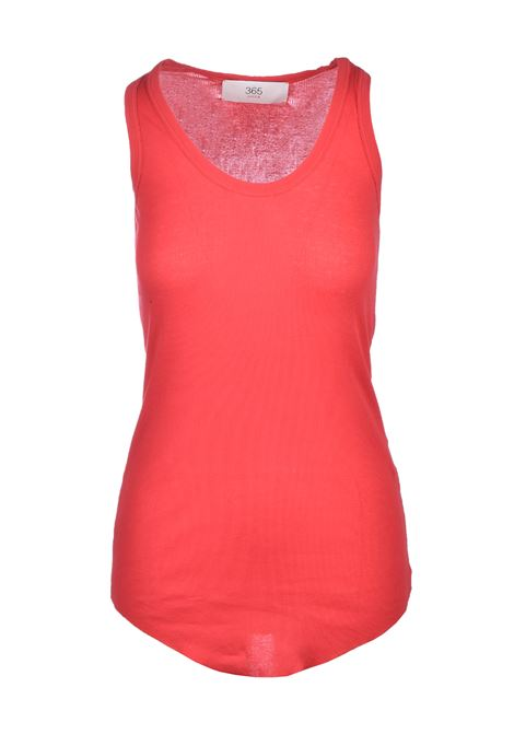 Rowing tank top - poppy