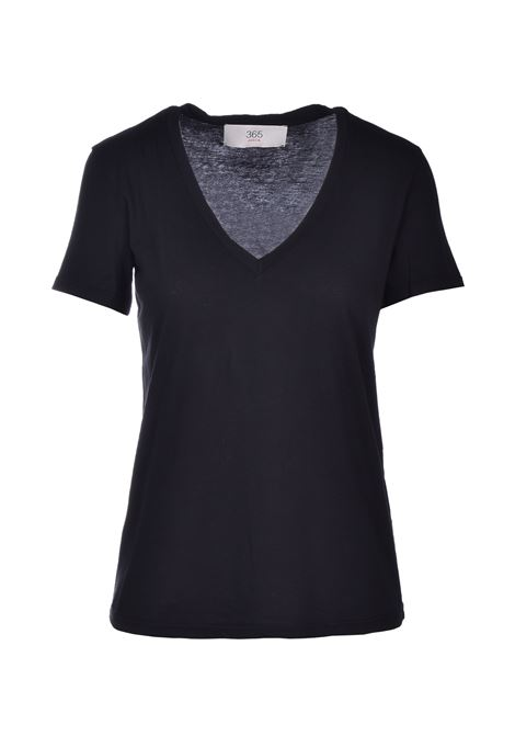 t-shirt scollo a v - nero JUCCA | Top & T-shirt | J3118106003
