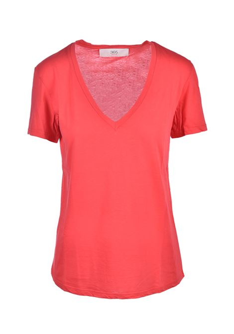 v-neck t-shirt - poppy JUCCA | T-shirts | J3118106656