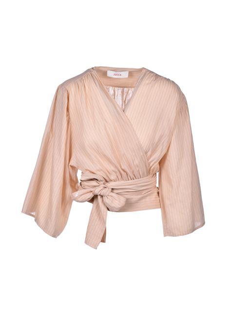Kimono blouse with ribbon - brut JUCCA | Blouse | J31220041658