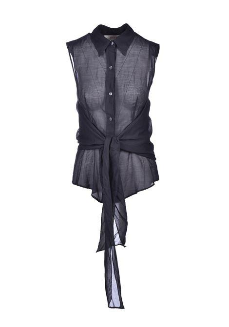 Muslin crossed shirt - black JUCCA | Blouse | J3122013003